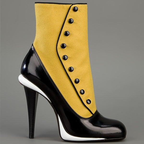 Fendi spats boots