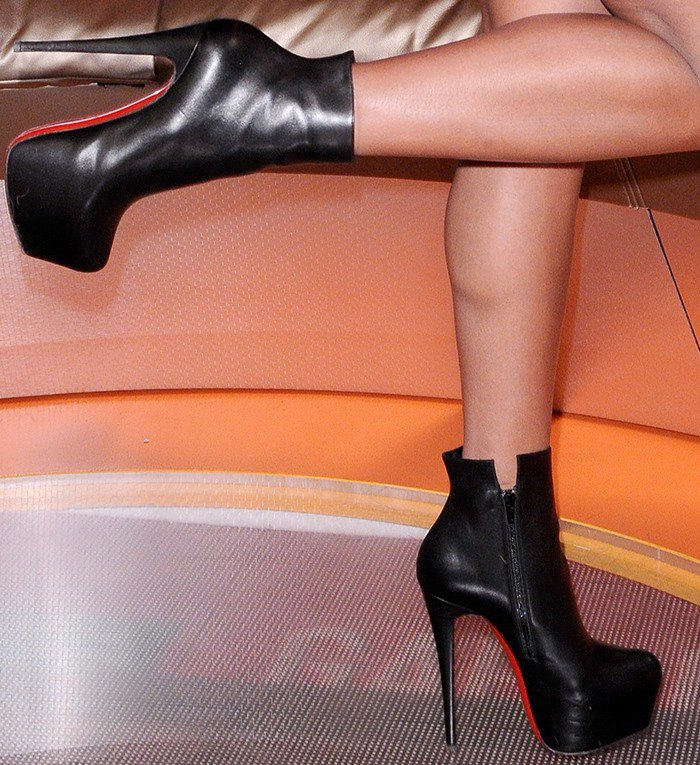 Gabrielle Union rocking Christian Louboutin ankle boots