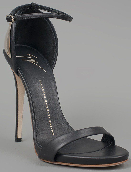 Giuseppe Zanotti Ankle Strap Heels with Plate, $695.00
