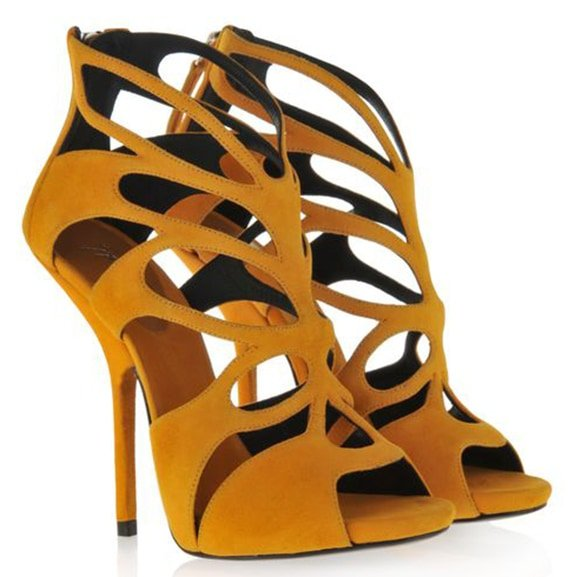 Giuseppe Zanotti Cutout Sandals in Yellow