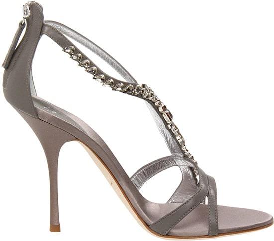 Giuseppe Zanotti Embellished T-Strap Sandal