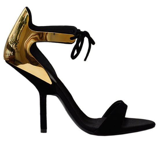 Giuseppe Zanotti Suede and Laminated Sandals