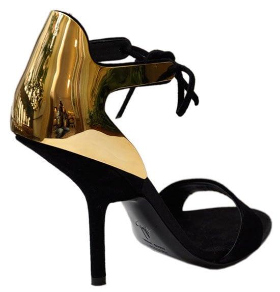 Giuseppe Zanotti Suede and Laminated Sandals