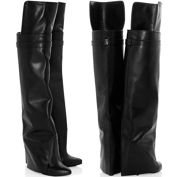 Givenchy leather wedge boots