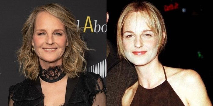 Before and after plastic surgery: Helen Hunt in December 2019 and October 1999