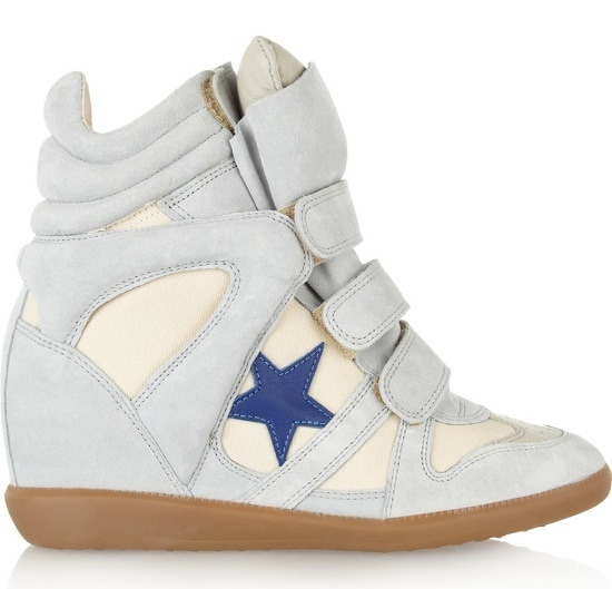 ISABEL MARANT Bayley suede and leather high-top sneakers $640 Outstep