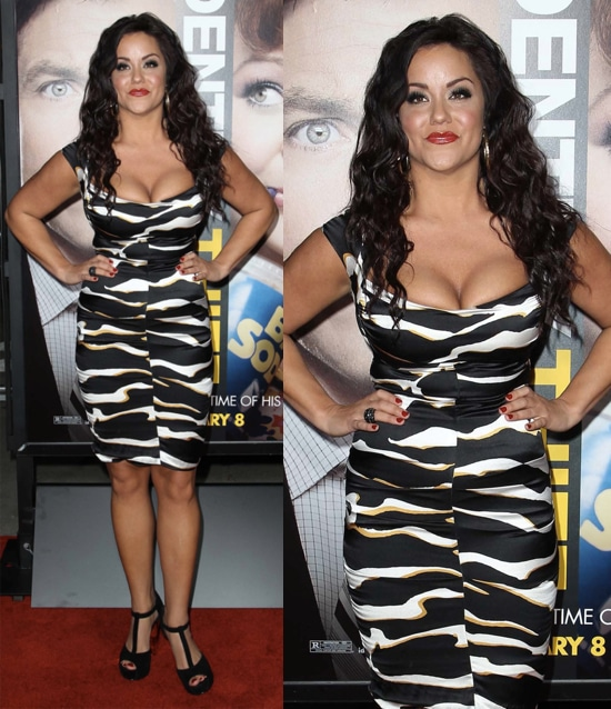 Katy Mixon arrives at the Los Angeles premiere of 'Identity Thief' held at Mann Village Theatre on February 4, 2013 in Westwood, California