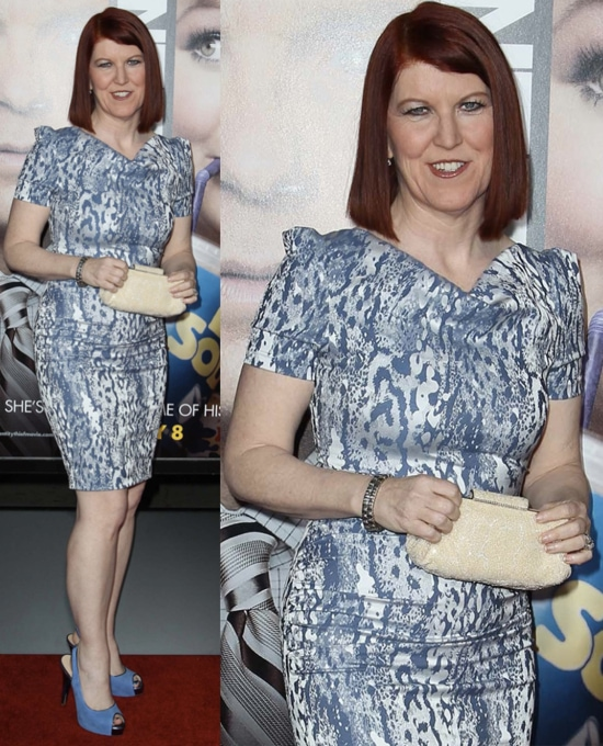 Kate Flannery arrives at the Los Angeles premiere of 'Identity Thief' held at Mann Village Theatre on February 4, 2013 in Westwood, California