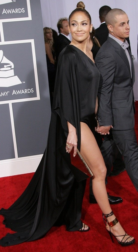 Jennifer Lopez at the 55th Annual Grammy Awards in Los Angeles, California on February 10, 2013
