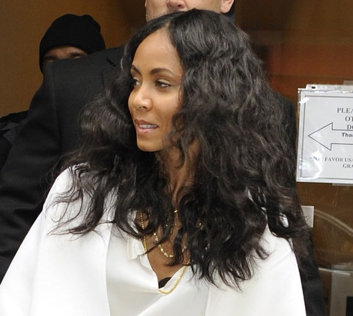 Jada Pinkett Smith out and about in Manhattan, New York City on February 26, 2013