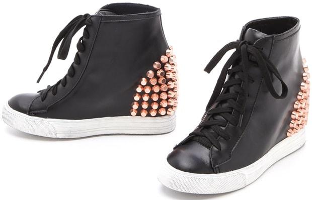 Jeffrey Campbell 'Edea' Stud Wedge Sneakers