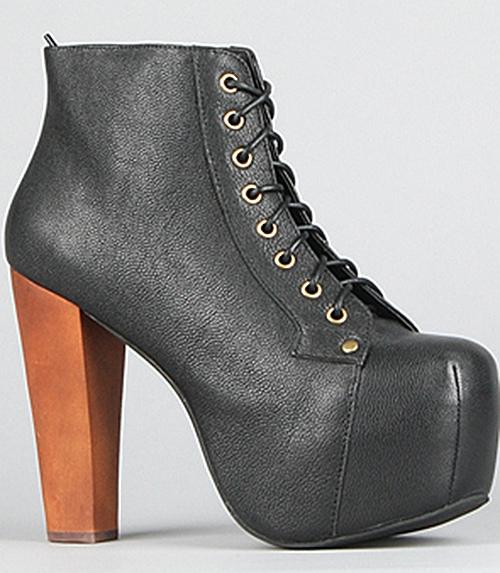 Jeffrey Campbell Lita Boots in Black