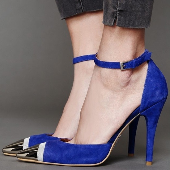 Jeffrey Campbell 'Pristine' Heels in Blue