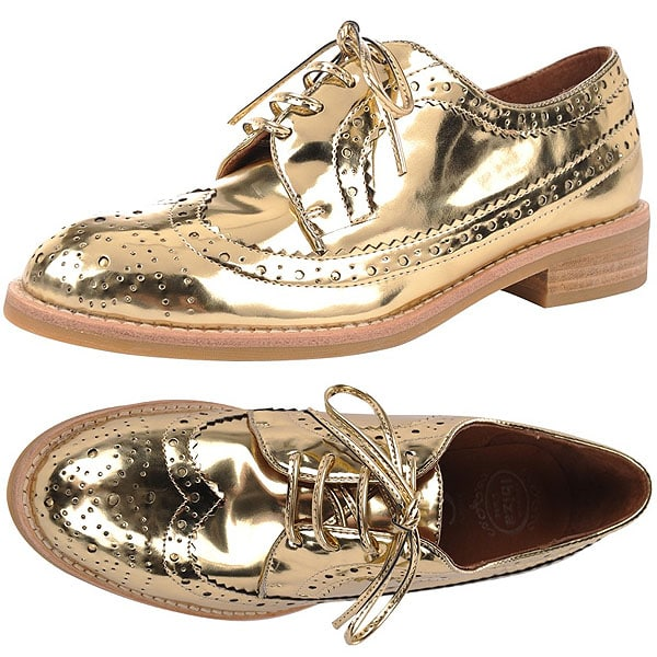 Gold Jeffrey Campbell 'Townsend' Oxfords