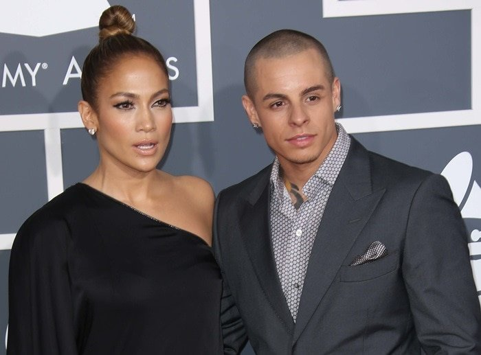 Jennifer Lopez and Casper Smart at the 55th Annual Grammy Awards at the Staples Center in Los Angeles on February 10, 2013