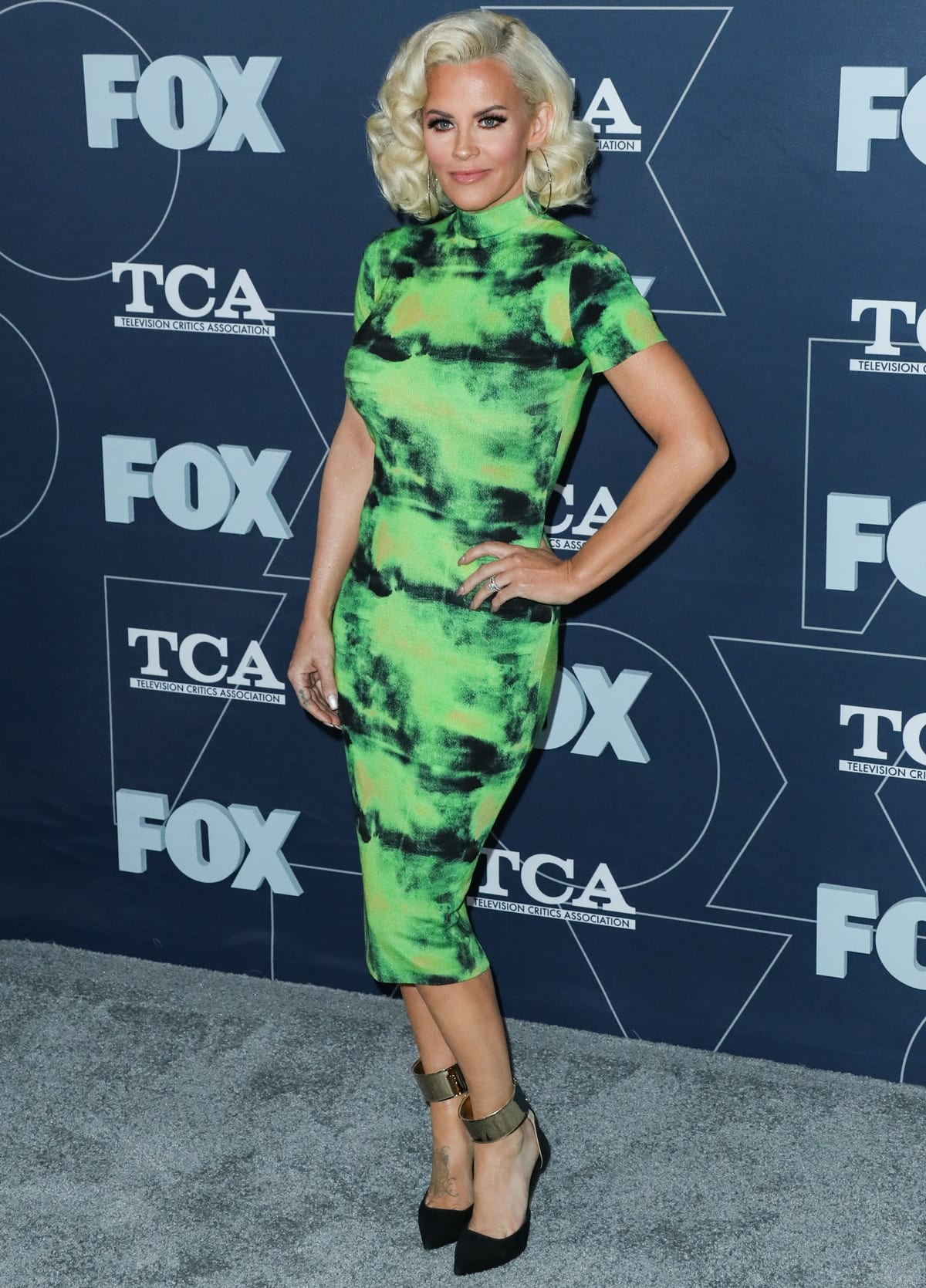 Actress Jenny McCarthy arrives at the FOX Winter TCA 2020 All-Star Party