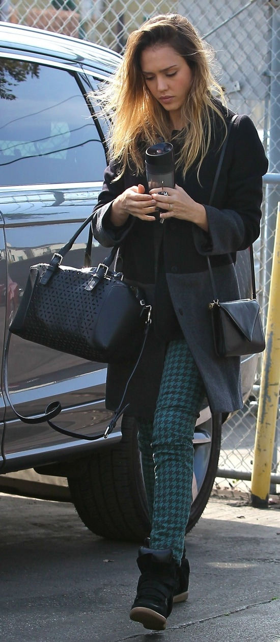 Jessica Alba is seen heading to an office