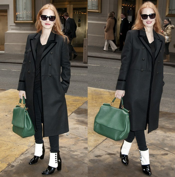Jessica Chastain arrives for matinee performance of The Heiress
