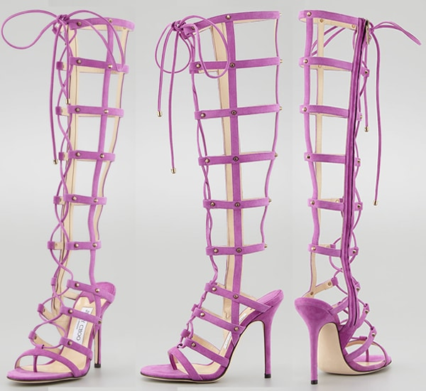 Jimmy Choo Mogul Gladiator Sandal Boot in Orchid