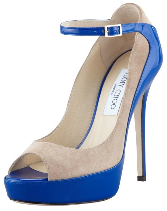 Jimmy Choo 'Tami' Suede Patent Pumps