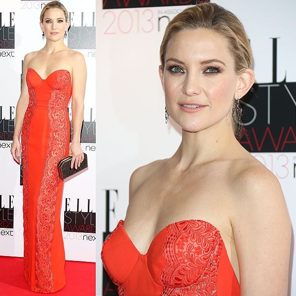 Kate Hudson in a red strapless Stella McCartney dress at the Elle Style Awards