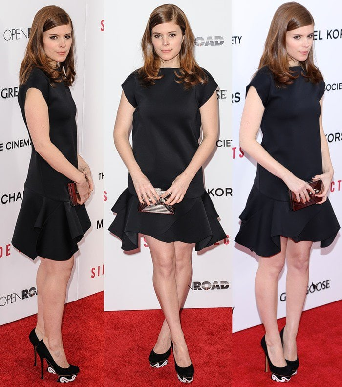 Kate Mara wears a Givenchy by Riccardo Tisci dress on the red carpet