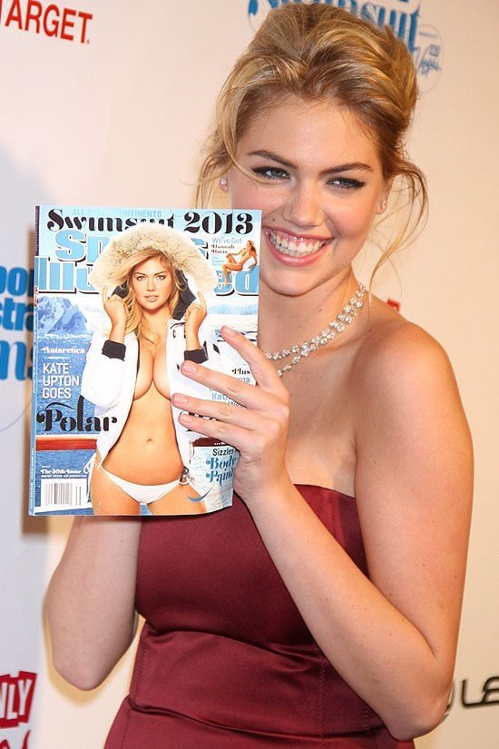 Kate Upton at the unveiling of her second consecutive Sports Illustrated cover at the Sports Illustrated Swimsuit Launch Party at Crimson in New York City on February 12, 2013