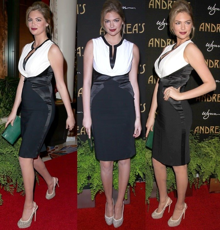Kate Upton attends the Andrea's Restaurant grand opening at the Wynn Las Vegas & Encore Resort on January 16, 2013