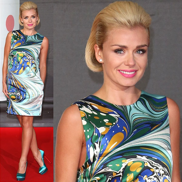 Katherine Jenkins in a Stella McCartney dress at the 2013 BRIT Awards held at O2 Arena in London, England on February 20, 2013