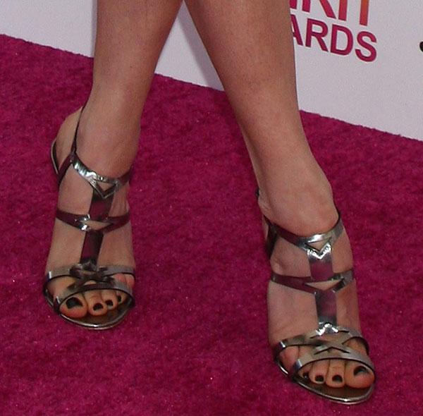 Katie Aselton's feet in Rupert Sanderson sandals