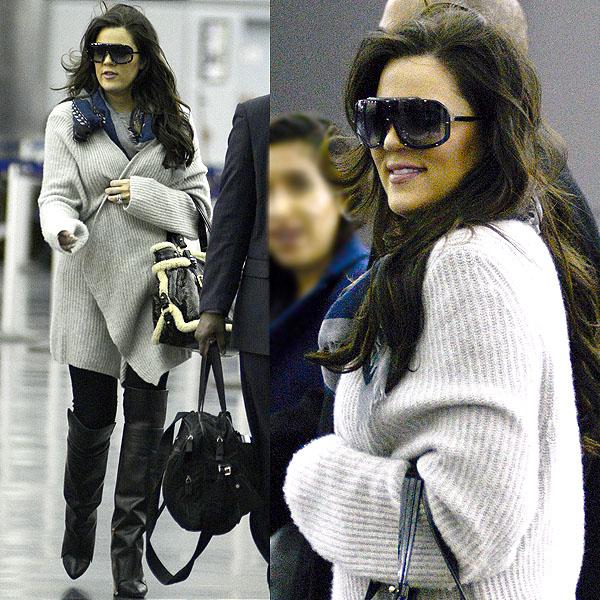 Khloe Kardashian at JFK airport