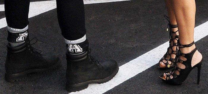 Kourtney Kardashian wears Tom Ford heels with golden hardware