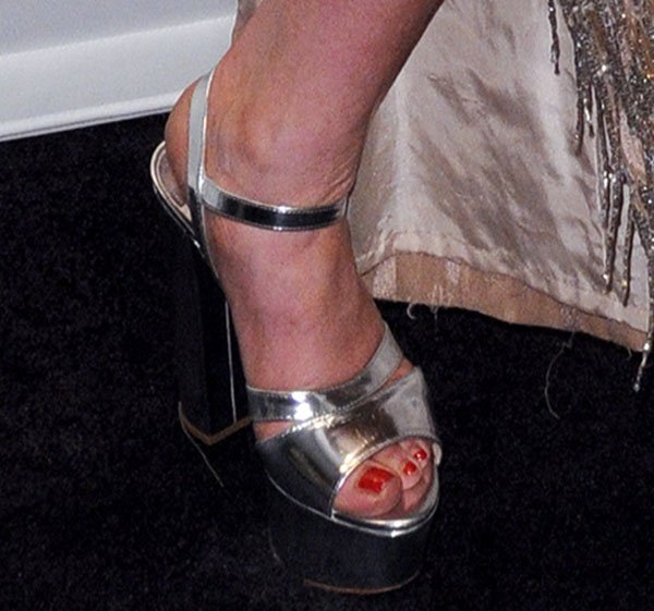 Lindsay Lohan in Prada Sandals