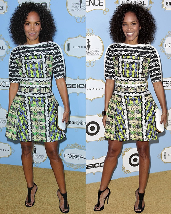 Mara Brock Akil flashes her sexy legs at the 6th Annual Essence Black Women in Hollywood Luncheon
