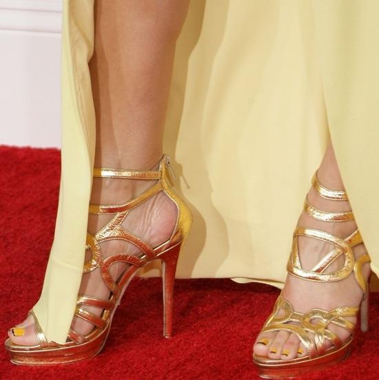 Maria Menounos wearing Jimmy Choo heels