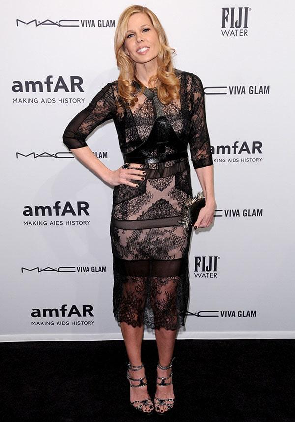 Mary Alice Stephenson at the amfAR gala held at Cipriani Wall Street