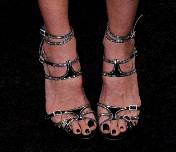 Mary Alice Stephenson's Heels at the amfAR gala held at Cipriani Wall Street