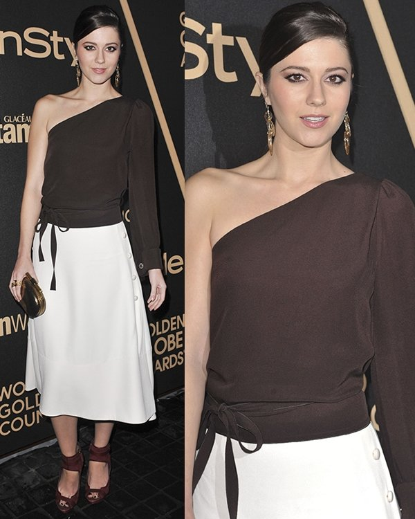 Mary Elizabeth Winstead at the 2013 Miss Golden Globe Awards hosted by the HFPA and InStyle at Cecconi's in West Hollywood, Los Angeles, California, November 29, 2012