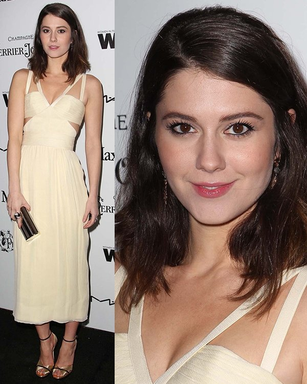 Mary Elizabeth Winstead at the6th Annual Women in Film Pre-Oscar Party hosted by Perrier Jouet, MAC Cosmetics, and MaxMara held at Fig & Olive in Los Angeles, California, February 22, 2013