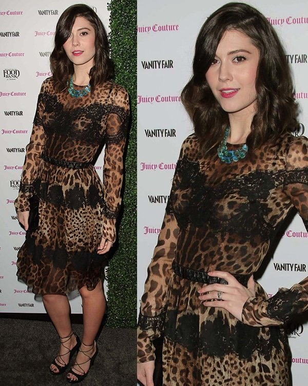 Mary Elizabeth Winstead at theVanity Fair and Juicy Couture Celebration of the 2013 Vanities Calendar with Olivia Munn in Los Angeles, California, February 18, 2013