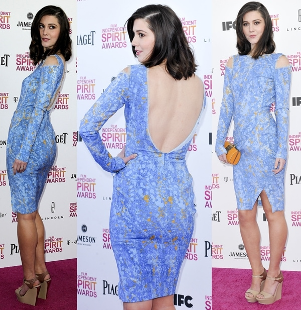 Actress Mary Elizabeth Winstead attends the 2013 Film Independent Spirit Awards at Santa Monica Beach in Santa Monica, California, on February 23, 2013