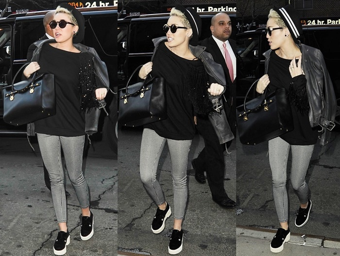 Miley Cyrus out and about