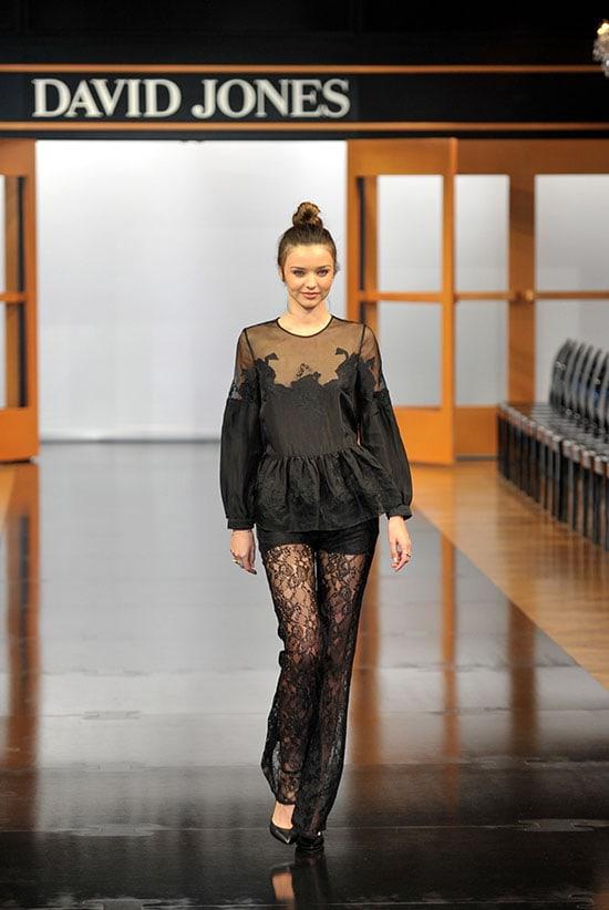 Miranda Kerr in Zimmermann Spring 2013 Lace Jumpsuit