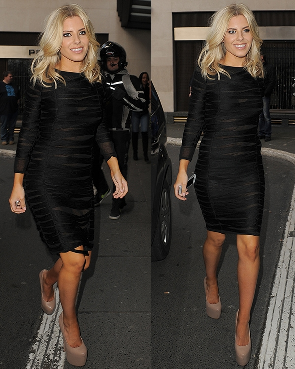 Mollie King at the Julien Macdonald show during London Fashion Week Fall/Winter 2013/14 at Goldsmiths' Hall on February 16, 2013, in London, England