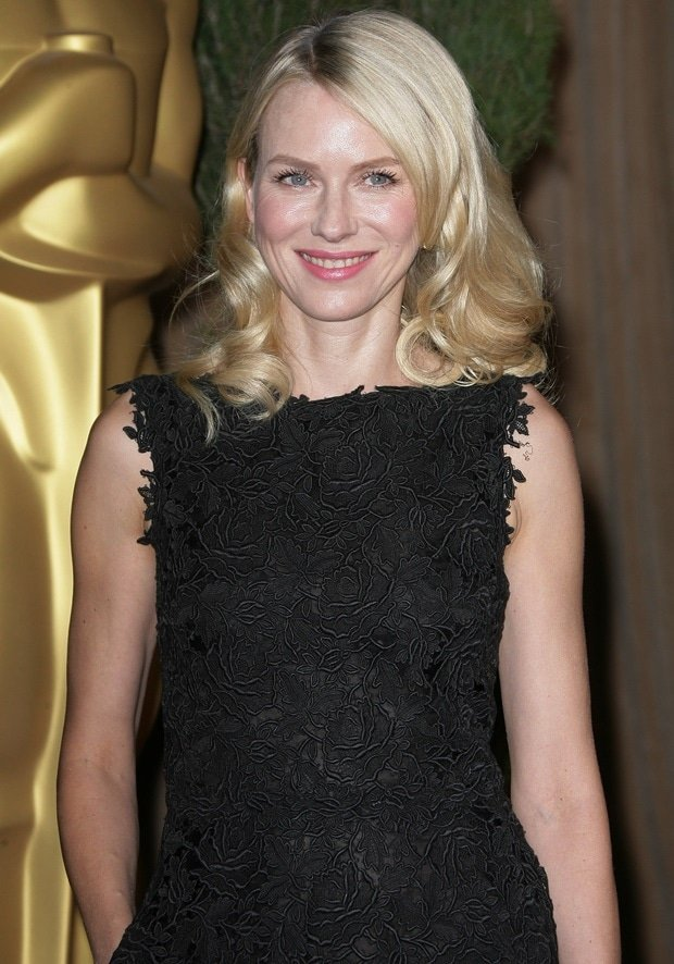Naomi Watts wears her blonde hair in curls at the 85th Academy Awards Nominees Luncheon