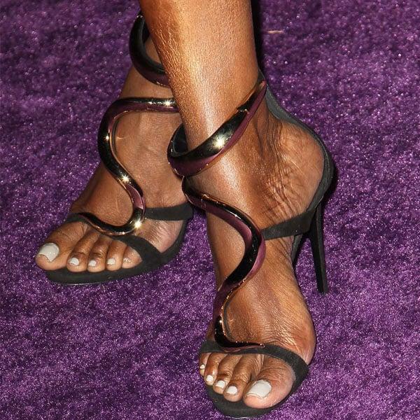 NeNe Leakes Giuseppe Zanotti serpent sandals