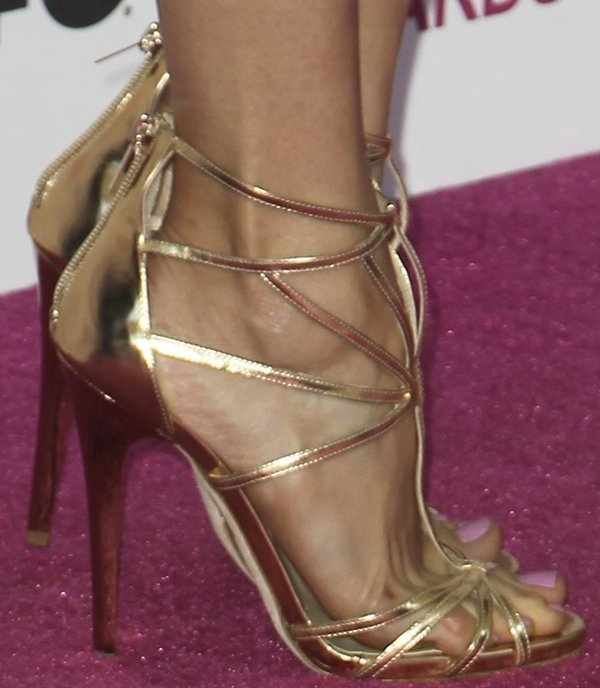 Nina Dobrev's feet in Jimmy Choo sandals