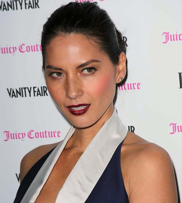 Olivia Munn donned a Bird by Juicy Couture Gale cocktail dress