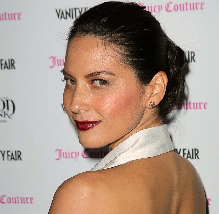Olivia Munn's slicked-back hair