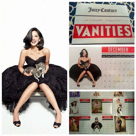 Olivia Munn's Vanities Calendar feature posted on her Twitter account